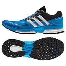 Buy Adidas Response Boost Techfit Running Shoes, Blue/Black Online at johnlewis.com