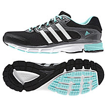 Buy Adidas Nova Cushion Women's Running Shoes, Core Black/Blue Online at johnlewis.com