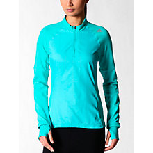 Buy Adidas Supernova Storm Half Zip Long Sleeve Top, Vivid Mint Online at johnlewis.com