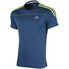 Buy Adidas Response Crew Neck T-Shirt, Rich Blue Online at johnlewis.com