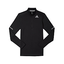 Buy Adidas Sequencials Long Sleeve Zip Running Top, Black Online at johnlewis.com