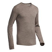 Buy Icebreaker Oasis Long Sleeve Crewe Base Layer, Brown Online at johnlewis.com