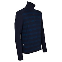 Buy Icebreaker Bodyfit Woollen Zip Tech Top, Blue Online at johnlewis.com