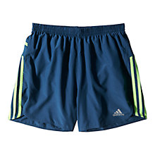 "Buy Adidas Response 5 "" Shorts, Rich Blue/Solar Green Online at johnlewis.com"