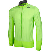 Buy Adidas Supernova Storm Running Jacket, Solar Green Online at johnlewis.com