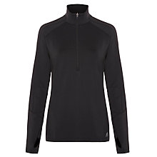 Buy AdidasTech Fit Climawarm Half Zip Top, Black/Matte Silver Online at johnlewis.com