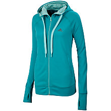Buy Adidas Women's Prime Full Zip Hoodie, Vivid Mint Online at johnlewis.com