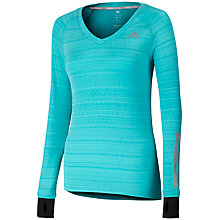 Buy Adidas Supernova Long Sleeve Running T-Shirt, Vivid Mint Online at johnlewis.com