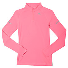 Buy Adidas Sequencials Long Sleeve Half Zip Running Top, Pink Online at johnlewis.com