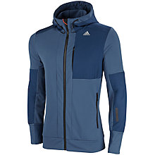 Buy Adidas Climaheat Hooded Zip Top, Blue Online at johnlewis.com