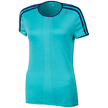 Buy Adidas Response Short Sleeve Crew Neck T-Shirt, Vista Blue Online at johnlewis.com