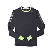 Buy Adidas Supernova Long Sleeve Top, Night Grey/Solar Green Online at johnlewis.com