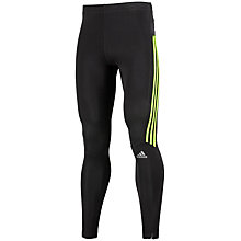 Buy Adidas Response Long Tights, Black/Solar Green Online at johnlewis.com