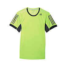 Buy Adidas Supernova Short Sleeve T-Shirt, Solar Green/Night Online at johnlewis.com