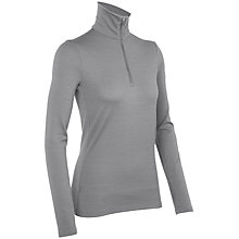 Buy Icebreaker Half Zip Long Sleeve Top, Grey Online at johnlewis.com