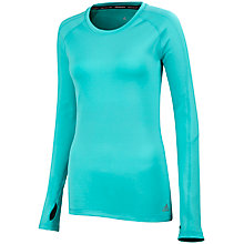 Buy Adidas Techfit Long Sleeve Top, Vivid Mint Online at johnlewis.com