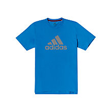 Buy Adidas Aess Logo Crew Neck T-Shirt Online at johnlewis.com