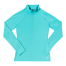 Buy Adidas 1/2 Zip Techfit Climawarm Top, Vivid Mint Online at johnlewis.com