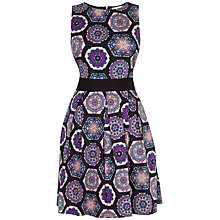 Buy Closet Lace Tie Back Print Dress, Purple Online at johnlewis.com