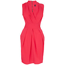 Buy Closet Cross Over Front Tie Back Dress, Fushia Online at johnlewis.com