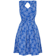Buy Closet Cut Out Back Floral Print Jacquard Dress Online at johnlewis.com