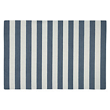 Buy John Lewis Stripe Rug, White/ Grey , Runner Online at johnlewis.com