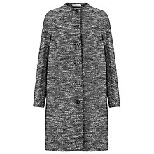 Buy John Lewis Capsule Collection Knee Length Tweed Coat, Black/White Online at johnlewis.com