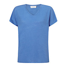 Buy Collection WEEKEND by John Lewis V-Neck Linen T-Shirt Online at johnlewis.com