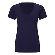 Buy John Lewis Slub Cotton V-Neck T-Shirt Online at johnlewis.com