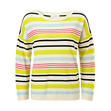 Buy Collection WEEKEND by John Lewis Long Sleeved Knitted Stripe Top, Multi Online at johnlewis.com