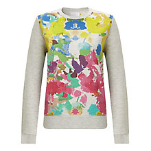 Buy Collection WEEKEND by John Lewis Painterley Floral Sweatshirt, Multi Online at johnlewis.com