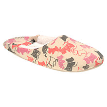 Buy Radley Doodle Dog Leather Mule Slippers, Natural Online at johnlewis.com