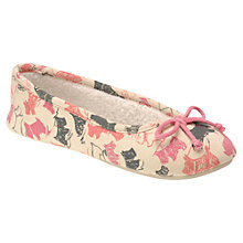 Buy Radley Doodle Dog Ballerina Slippers, Navy, Navy Online at johnlewis.com