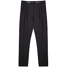 Buy Gérard Darel Stripe Wool Trousers, Black Online at johnlewis.com