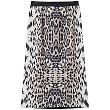 Buy Gérard Darel Printed Midi Skirt, Beige Online at johnlewis.com