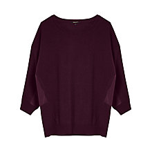 Buy Gérard Darel Cashmere Blend Knitted Jumper, Burgundy Online at johnlewis.com
