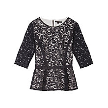 Buy Gérard Darel Shell Top, Black Online at johnlewis.com