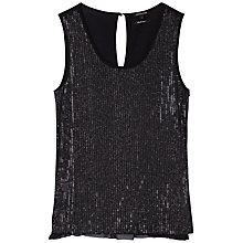 Buy Gérard Darel Sequin Top, Black Online at johnlewis.com