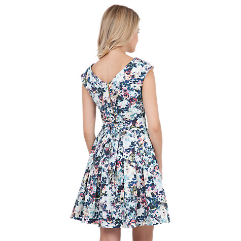 Buy Closet Print Textured Tie Back Dress, Multi Online at johnlewis.com