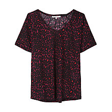 Buy Gérard Darel Linen T-Shirt, Burgundy Online at johnlewis.com