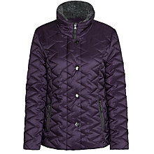 Buy Gerry Weber Quilt Jacket, Plum Online at johnlewis.com