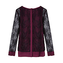 Buy Gérard Darel Salma Shirt, Burgundy Online at johnlewis.com