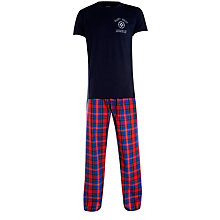 Buy Gant Blue Check Pyjama Bottoms and T-Shirt Lounge Set Online at johnlewis.com