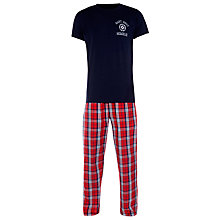 Buy Gant Blue Check Pyjama Bottoms and T-Shirt Online at johnlewis.com