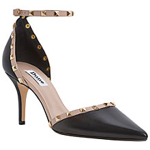 Buy Dune Daveney Ankle Strap Studded Leather Court Heels Online at johnlewis.com
