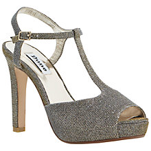 Buy Dune Harlane Chunky High Heel Platform T-Bar Sandals Online at johnlewis.com