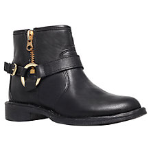 Buy Carvela Tough Leather Ankle Biker Boots Online at johnlewis.com