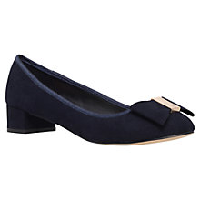 Buy Carvela Kate Bow Trim Pumps, Navy Online at johnlewis.com