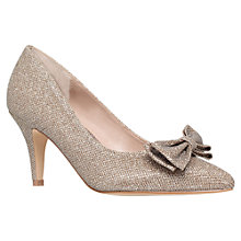 Buy Carvela Keeley Bow Detail Court Shoes, Metallics Online at johnlewis.com
