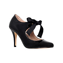 Buy Carvela Katrina Patent Lace Up Court Shoes, Black Online at johnlewis.com